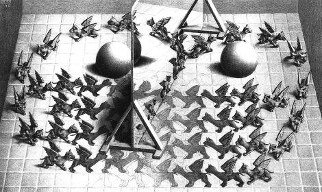 Maurits-Cornelis-Escher-Specchio-magico-1946-litografia-279-x-445-mm-M.C.-Escher-Foundation